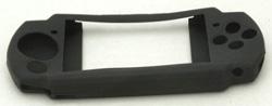 写真:【販売終了】 PSP-2000専用シリコンケース&液晶保護フィルムキット/マットブラック(CPA-P2KSBK)