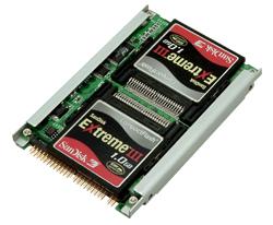 写真:【販売終了】 シリコンディスクビルダーCF RAID IDE(SDB25CFP/R5)