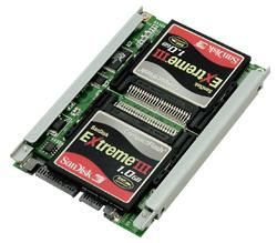 写真:シリコンディスクビルダーCF RAID SATA(SDB25CFS/R5)