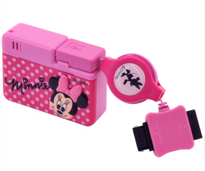 写真:【販売終了】 ケーブルチャージャー ミニーマウス(Cable Charger Minnie Mouse)