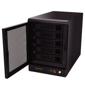 写真:【販売終了】 ドライブドアSATAボックスUSB3.0 RAID 5BAY(EX35EU3R)