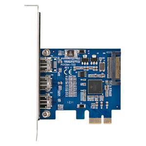 写真:ポートを増やしタイ IEEE1394b(FireWire800) 3ポート PCIe接続インターフェイスカード(CIF-FW8P3)