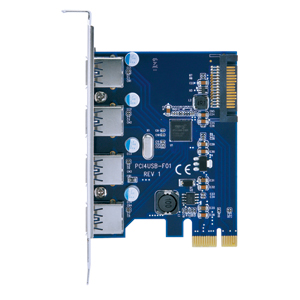 ポートを増やしタイ PCI Express×1接続 USB3.0×4ポート インターフェイスカード (CIF-USB3P4FL)